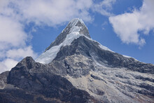 Artesonraju, The Peak That Inspired The Paramount Pictures Logo, Santa Cruz Trek, Cordillera Blanca, Ancash, Peru