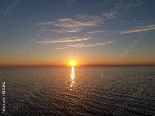 Carta da parati Scenic View Of Sea Against Sky At Sunset