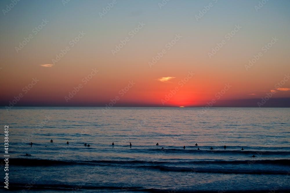 Fototapeta Scenic View Of Sea During Sunset