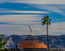 'Wounded Goddess' Statue Atop The Arizona State Capitol Building In Phoenix Arizona. Other Names: Statue Of Justice; Winged Victory; Goddess Of Victory;