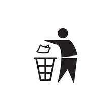 Tidy Man Mark Icon Symbol Sign Vector