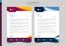 Professional Letterhead Template Design, Official And Business Letterhead Design.