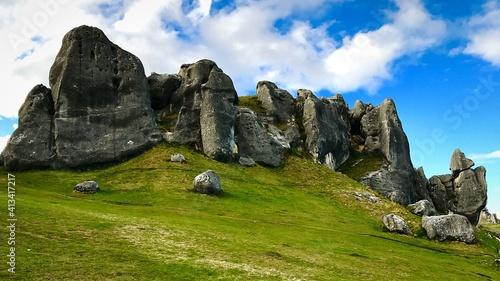 Fototapeta Scenic View Of Mountains Against Sky obraz
