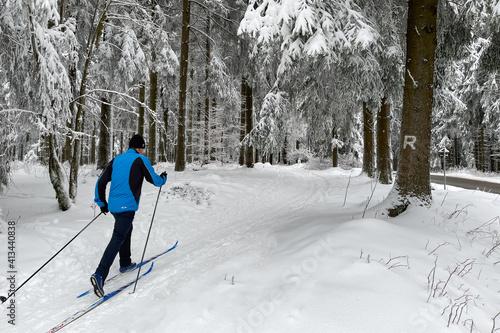 Ski fahren auf dem Rennsteig / Thüringer Wald © Henry Czauderna