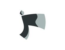 Simple Illustration Of Little Gray Ax