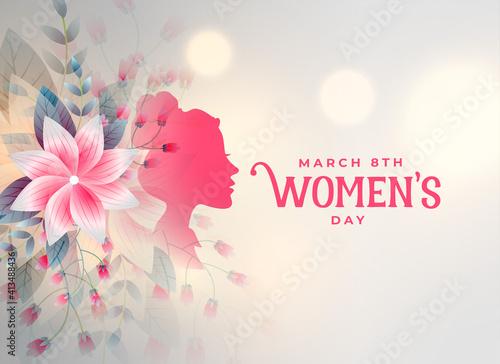 Obraz happy womens day flower decorative card design - fototapety do salonu