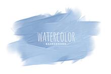 Pastel Blue Watercolor Texture Concept Background Design