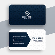 Clean Style Modern Business Card Design Template