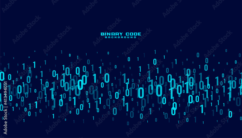 Fototapeta binary code digital data numbers background