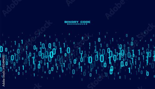 Obraz binary code digital data numbers background - fototapety do salonu