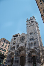 Genoa Cathedral Is A Roman Catholic Cathedral In The Italian City Of Genoa. It Is Dedicated To Saint Lawrence (San Lorenzo), And Is The Seat Of The Archbishop Of Genoa.