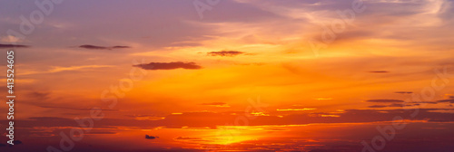 Fototapeta Amazing sunset, Gorgeous Panorama twilight sky and cloud at morning background image. obraz