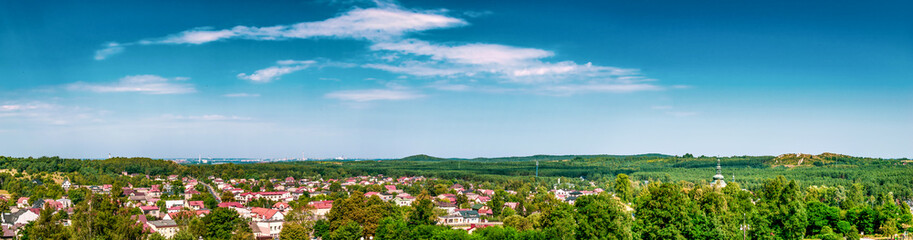 The panorama of the city of Olsztyn in the background is visible Częstochowa