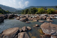 East India, Arunachal Pradesh, Singen River (right Tributary Of The Brahmaputra River). Turbulent Rivers Of The Southern Himalayas.