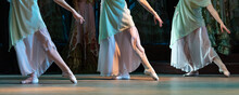 Closeup Of Dancing Ballet Couple