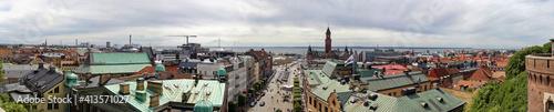 Fototapeta High Angle View Of Townscape Against Sky obraz