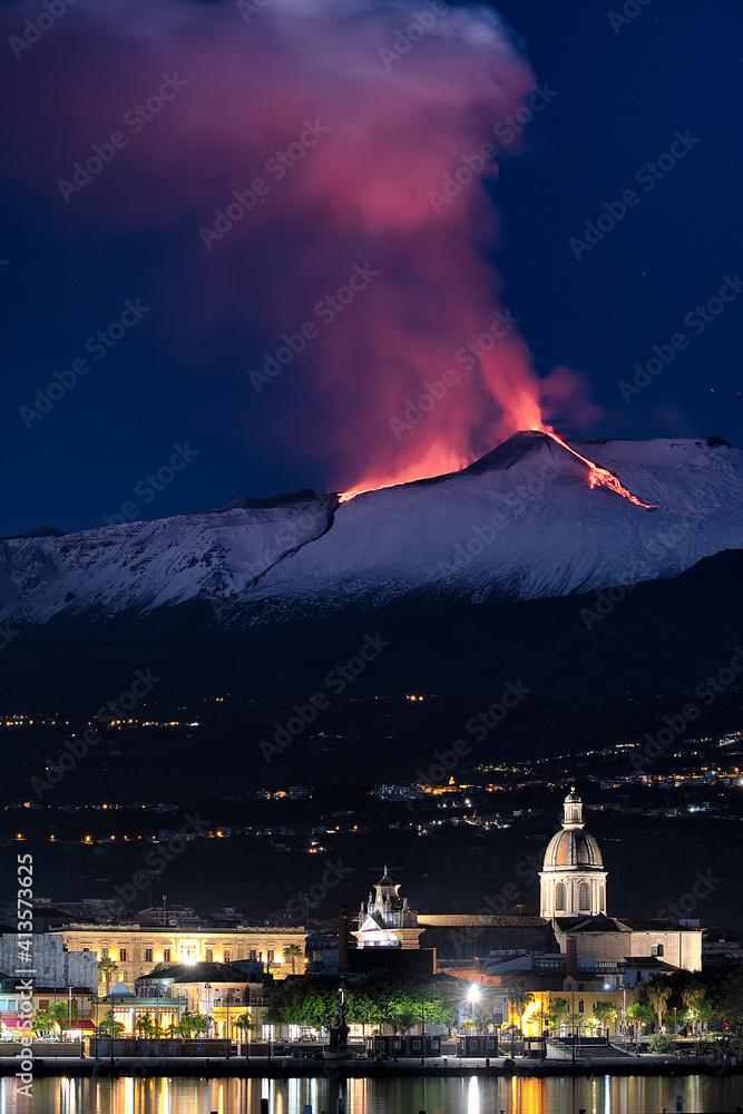 Fototapeta Etna: 22 dicembre 2020