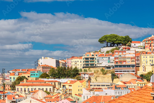 Photo View of Lisbon from the observation point