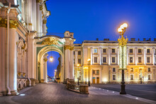 Winter Palace On Palace Square In St. Petersburg