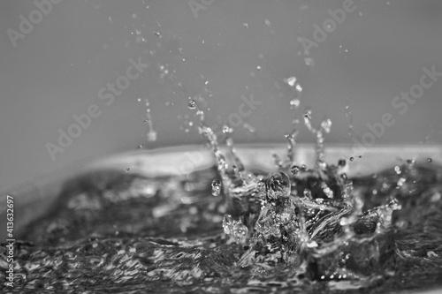 Close-up Of Drop Falling On Water © wildan taqwa/EyeEm