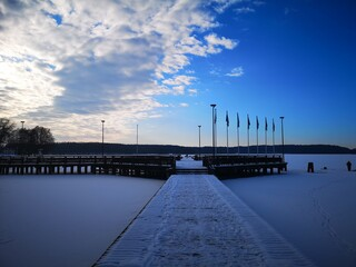 Olsztyn, pomost nad jeziorem Ukiel.