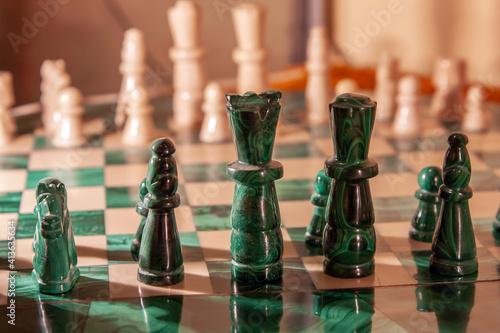 Fototapeta Zielone szachy obraz