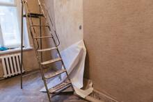 Unstuck Bad Work Gluing Wallpaper Rolls Vinyl Preparing The Surface Walls