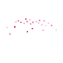 Heart Background.  Exploding Like Sign. Vector Template For Mother's Day Card. Red Pink St Valentine Day Card With Classical Hearts. Empty Vintage Confetti Template. 8 March Banner With Flat Heart.