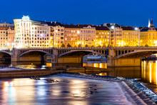 Prague, Czech Republic, Dancing House At Night