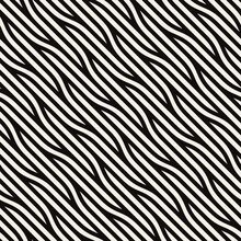Seamless Ripple Pattern. Repeating Vector Texture. Wavy Graphic Background. Modern Graphic Design. Can Be Used As Swatch For Illustrator.