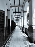 Empty hallway at Lawang Sewu (thousand doors) historical building in Semarang Indonesia