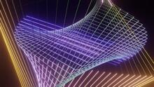 回転するワイヤーフレームによる立体的な幾何学模様