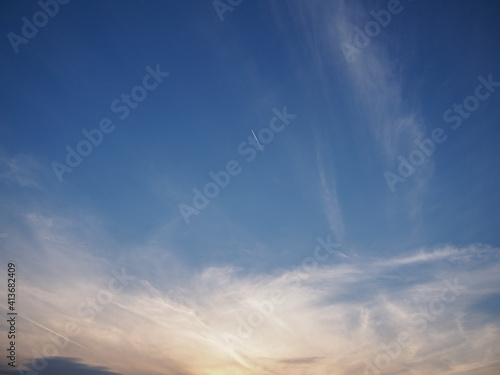 Fotografie, Obraz 夕暮れが迫る空の風景
