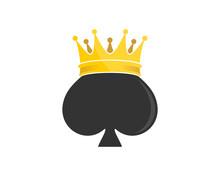 Spade With King Crown Logo