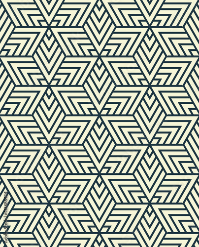 Abstract illustration of abstract geometrical shapes in seamless pattern against white background