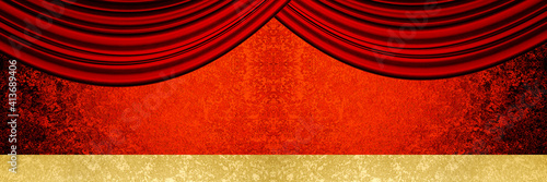 red curtain background Fototapet
