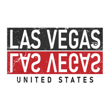 LAS VEGAS, SLOGAN PRINT VECTOR TEXT For T-shirt Or Printing, Poster Merch