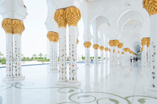 Colonnade At Sheikh Zayed Mosque