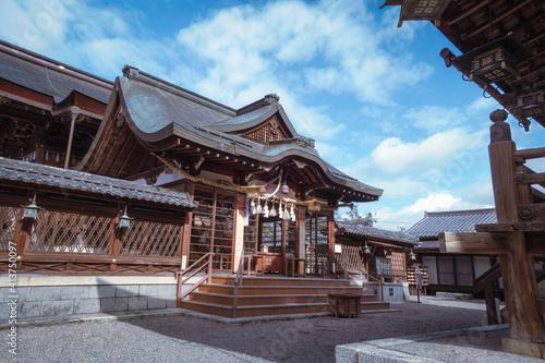 Canvas Print 滋賀県近江八幡市にある沙沙貴神社の幣殿