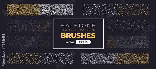 Halftone grain pattern brushes Fototapeta