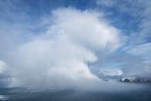 Winter Snow Flurry Approaches From The Sea, Flakstadøy, Lofoten Islands, Norway