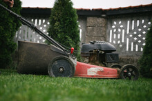 Using A Petrol Lawn Mower