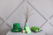 Beautiful Composition For St. Patrick's Day Celebration On Table