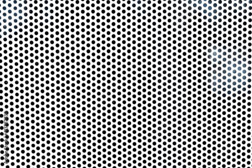 Obraz na plátně Background sheet of metal with circular holes