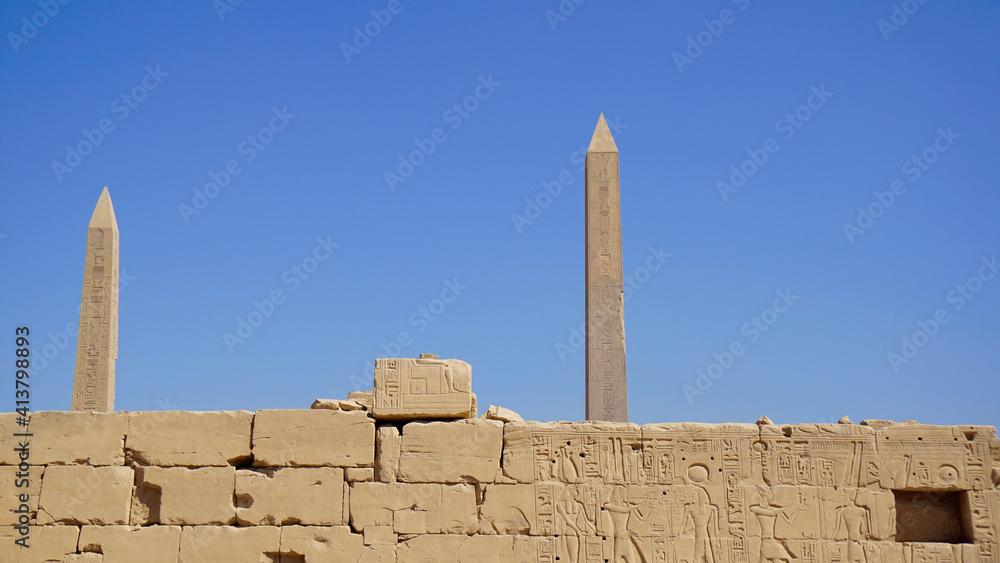 Fototapeta Afryka, Egipt, Luksor, hieroglify, Faraon,