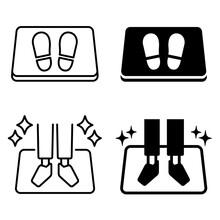 足の消毒マット 抗菌マット アイコン ピクトグラム