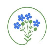 Flax Logo. Isolated Flax On White Background
