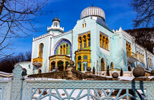 Fairy Palace, Built In The Arab Style In The Resort Park Of The City Zheleznovodsk,Russia.Former Palace Of The Emir Of Bukhara,1923.