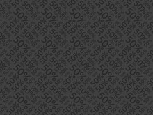 50 Percent Black And Gray Pattern Background. Black Friday Discount Promo Background