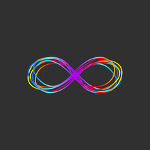 Infinity Hand Drawn Doodle Colorful Gradient Logo